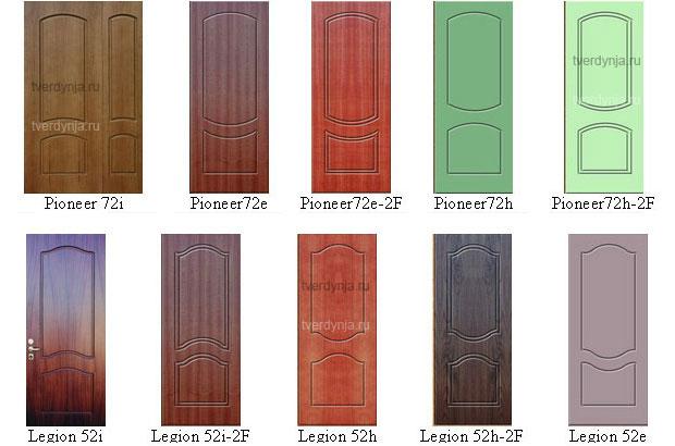 образцы фрезеровки входных дверей